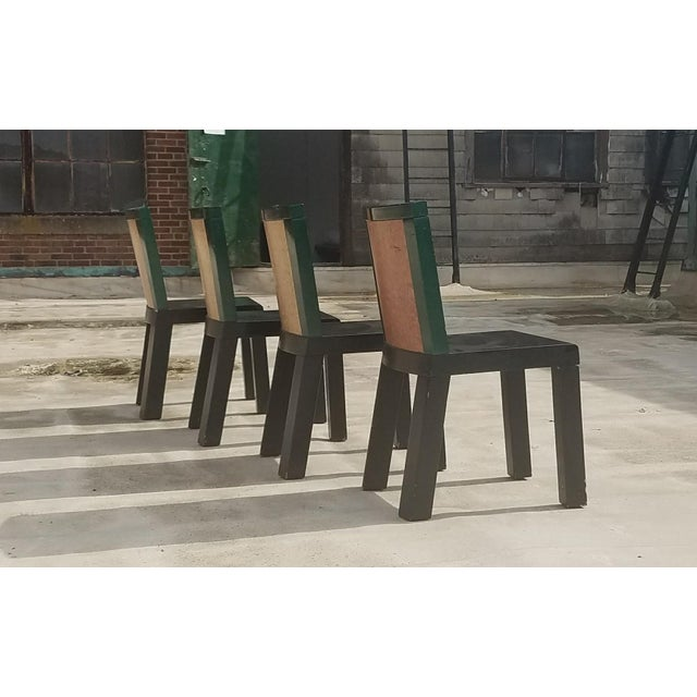 "Ettore Sottsass 1970s Mid-Century Modern Ettore Sottsass ""Danube"" Chairs - Set of 4 For Sale - Image 4 of 8"