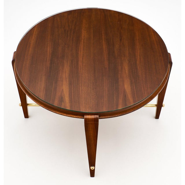 1940s Art Deco Period Figured Walnut Gueridon Table For Sale - Image 5 of 10
