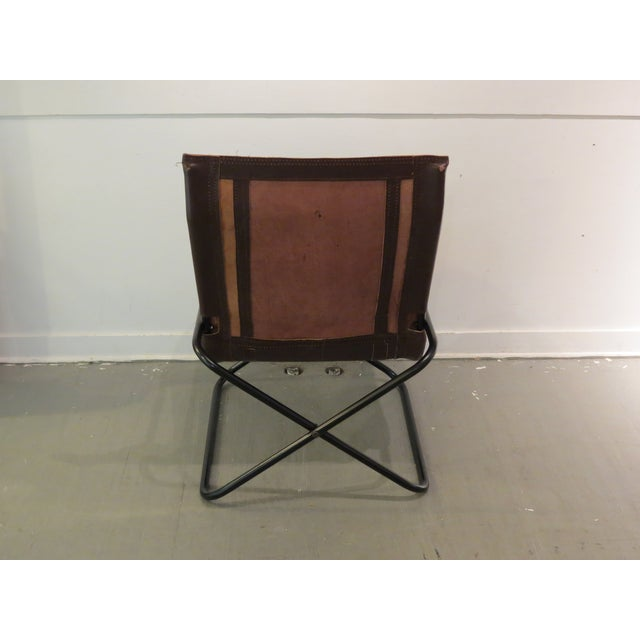 Vintage MCM Uchida Leather Sling Chair For Sale - Image 7 of 11
