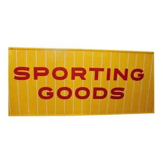 1950s Sporting Goods Metal Sign For Sale
