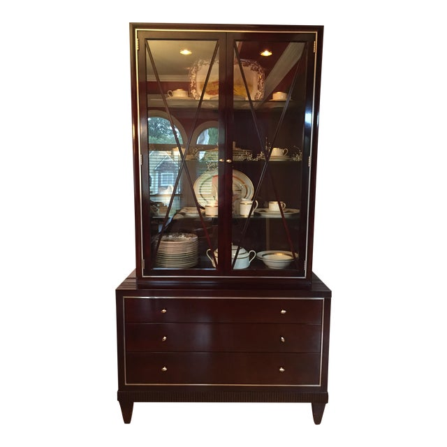 """Baker """"Barbara Barry Collection"""" Glass Front Cabinet"""