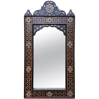 Moroccan Arched Camel Bone Mirror For Sale