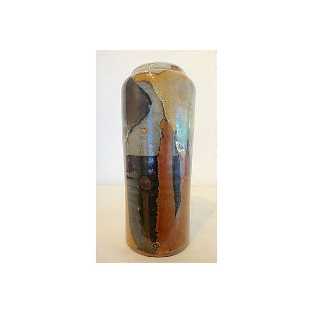Modernist Abstract Studio Pottery Vase For Sale In Dallas - Image 6 of 11