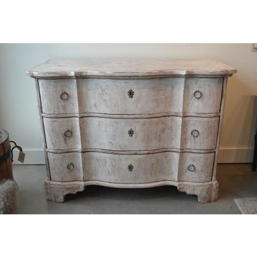 Italian White Painted Three Drawer Chest For Sale - Image 12 of 12