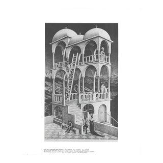Escher m.c. - Belvedere - Offset Lithograph 1988 For Sale