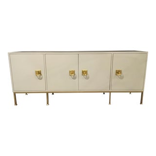 Contemporary Gray Lacquer Sideboard For Sale