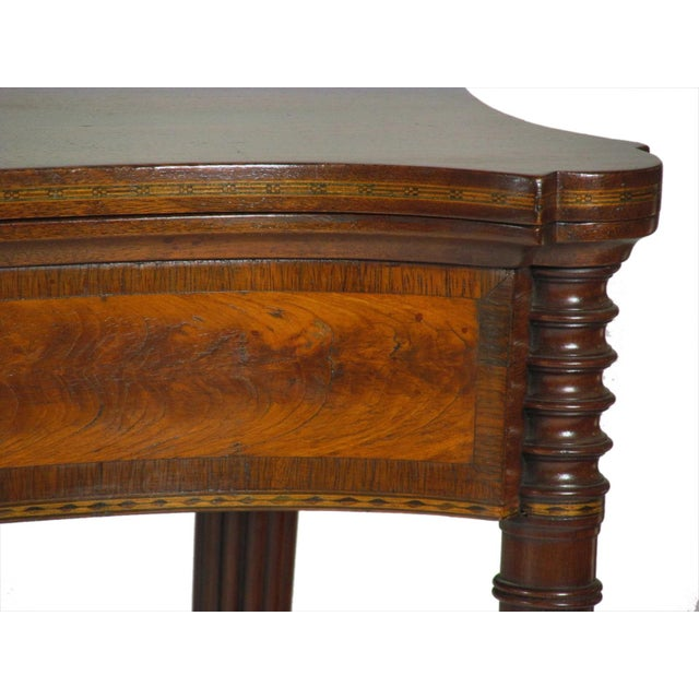 Late 19th Century Late 19th Century Federal-Style Card Tables - a Pair For Sale - Image 5 of 13