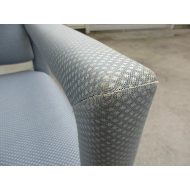 Metal Late 20th Century Parsons Style Arm Chairs -A Pair For Sale - Image 7 of 13