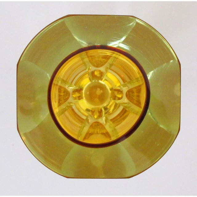 Well-Executed and Thickly-Modeled Faceted Sommerso Hand-Blown Glass Vase, Made by Mandruzzato, Murano For Sale In San Francisco - Image 6 of 7