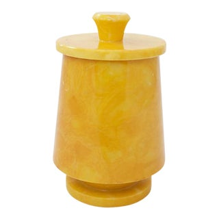 Italian Alabaster Jar For Sale