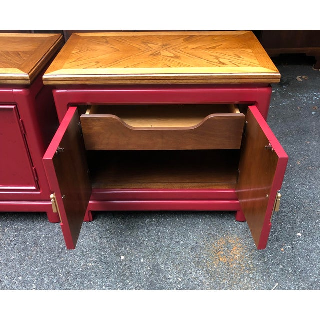 1980s Thomasville Mystique Nightstands -A Pair For Sale - Image 5 of 8
