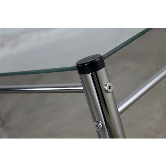 James David Furniture Attributed Chrome & Glass Coffee Table - Image 10 of 12