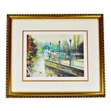 Image of Vintage Framed Landscape Limited Edition Lithograph - Artist Signed For Sale