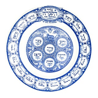 Ridgways 1930's Bardinger Tepper Passover Plate For Sale