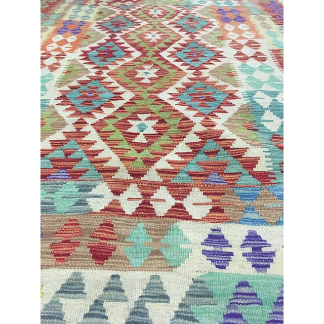 "Hand Knotted Traditional Design Uzbek Kilim. 5'0"" X 6'8"" For Sale - Image 4 of 7"