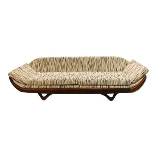 Vintage Adrian Pearsall Gondola Sofa - Custom Reupholstered For Sale