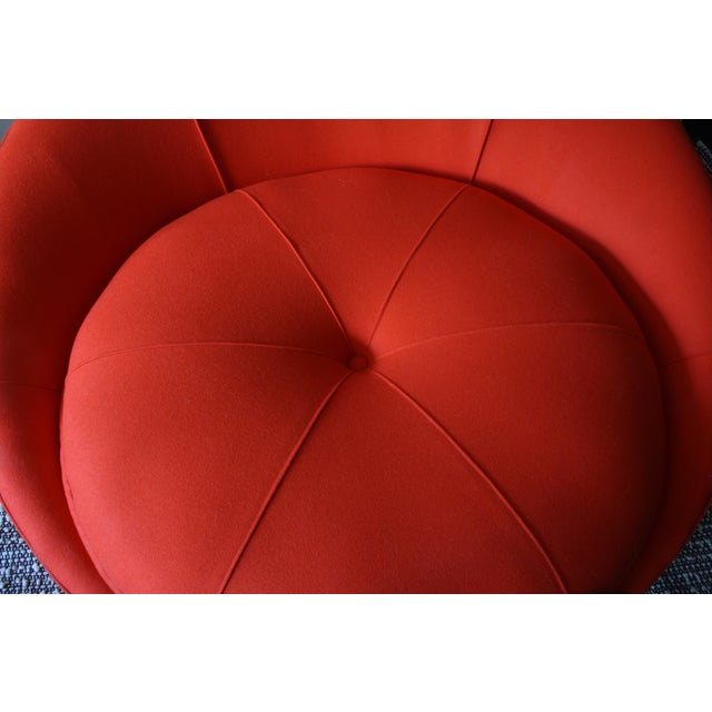 Mid-Century Modern Milo Baughman Round Chaise Lounge For Sale - Image 3 of 10