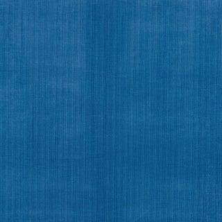 Schumacher Antique Strie Velvet Fabric in Lapis For Sale
