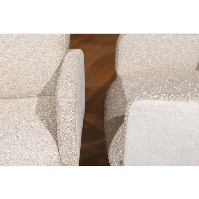 """Mid-Century Modern Pair of """"Lugano"""" Chairs by Mariani for Pace For Sale - Image 3 of 8"""
