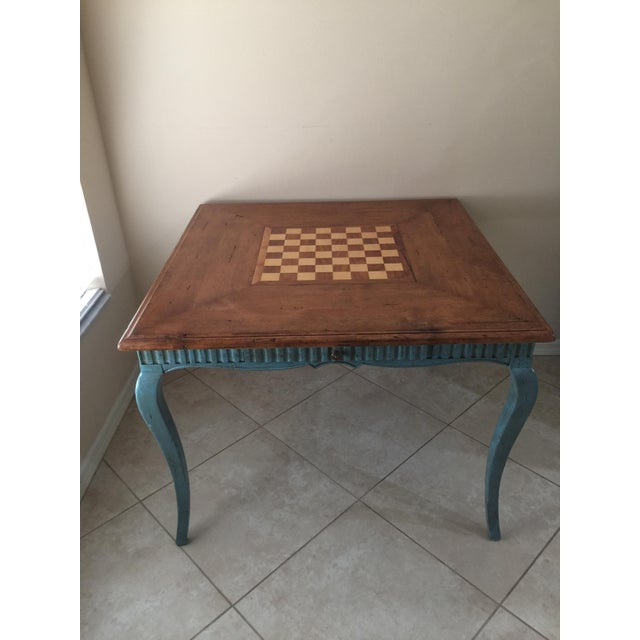 French Country Game Table - Image 2 of 7