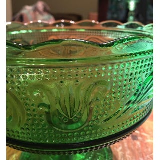 1960s Emerald Green Glass Compote/Candy Dish Preview