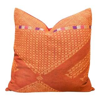 Bohiemian Hetini Bagh Phulkari Pillow For Sale