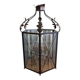 Hexagonal Two Tier Hanging Lantern Ceiling Fixture For Sale