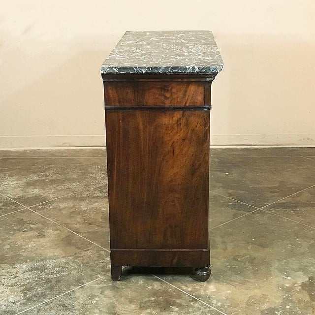 19th Century French Charles X Mahogany Marble Top Buffet For Sale - Image 10 of 13