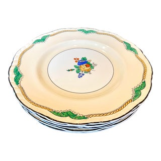 Late 19th Century Booths China Hand Painted Floral Plates -- Set of 5 For Sale