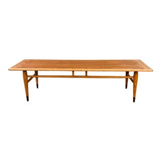 1960s Lane Walnut Dovetailed Coffee Table For Sale