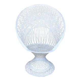 Vintage Spun Fiberglass Peacock Chair For Sale