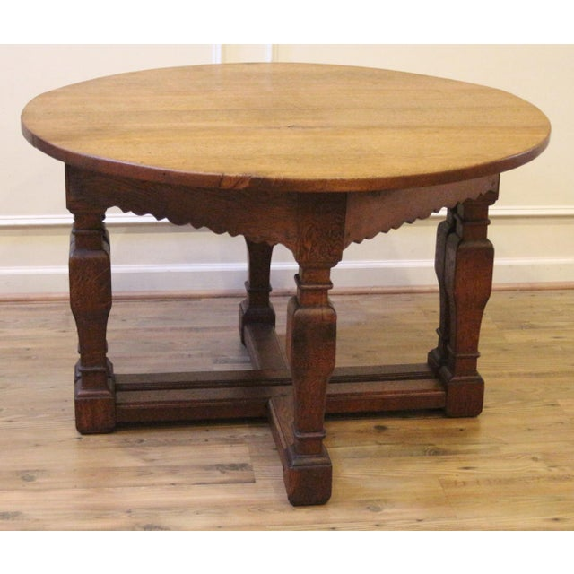 Fantastic pair of hand made antique oak demi lune half round console tables dating back to the late 1800's or possibly...