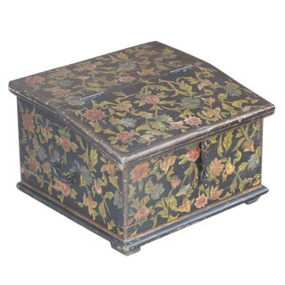 Floral Painted Desk Box For Sale
