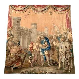 Mid-18th Century French Handwoven Mythological Aubusson Tapestry For Sale