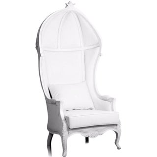 Modani Modern White Enzo Armchair For Sale