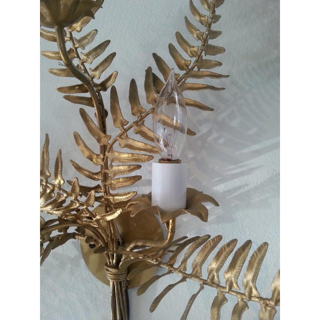 Mid-Century Sconces Fern Motif - a Set of 2 For Sale - Image 12 of 13
