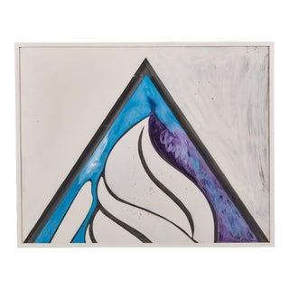 Gio Ponti a Decorative Panel Hand-Painted in Acrylic on Perspex For Sale