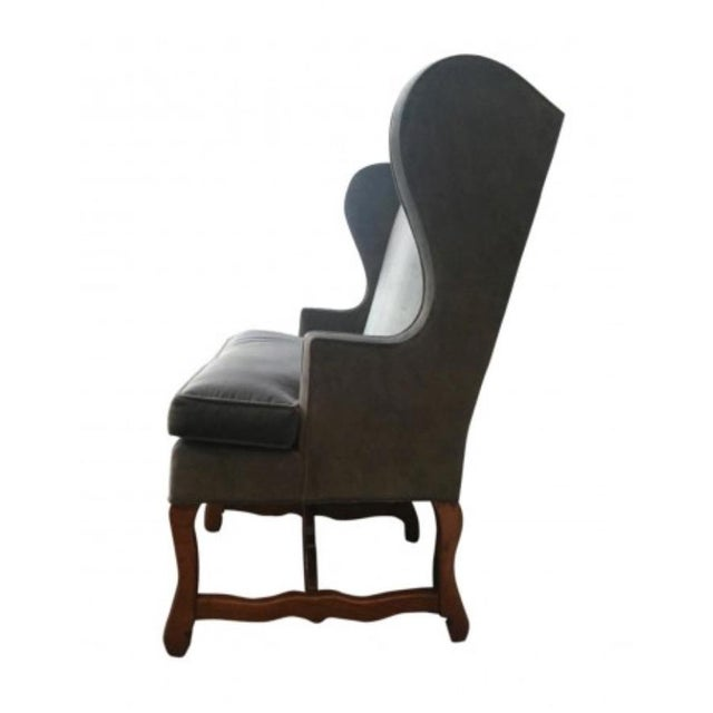English Lee Industries High Back Settee For Sale - Image 3 of 4