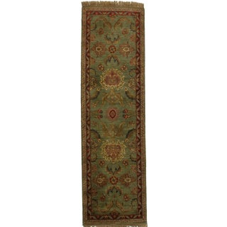 RugsinDallas Antique Look Persian Style Hand Knotted Runner - 3′ × 10′2″ For Sale