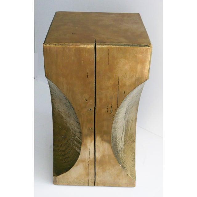 Abstract Bespoke Metallic Stool For Sale - Image 3 of 8