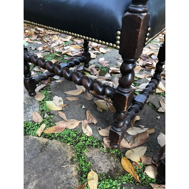 Black Mahogany Barley Twist Armchairs - a Pair For Sale - Image 8 of 12
