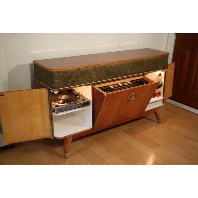 Vintage Custom Mid Century Grundig Majestic 9065 Stereo Console. Fully Restored Radio, New Record Player, Original 6...