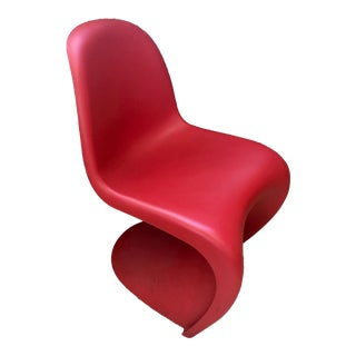 1990s Danish Modern Vitra Verner Panton Red Dining Chair