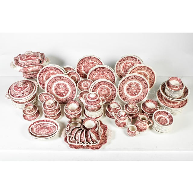 Red Mason's English Chinaware Svc for 12 People For Sale - Image 10 of 10