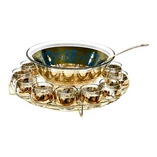 Culver Coronet Punch Bowl Set - Set of 15 For Sale