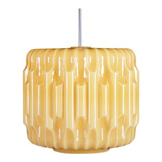 Large Mid-Century Glass Pendant For Sale