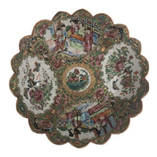 Rose Medallion Porcelain Dish