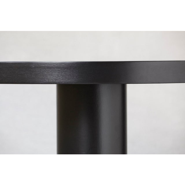 Modern Puristic Oak Center Table in New Black Finish, 1960s For Sale - Image 4 of 12