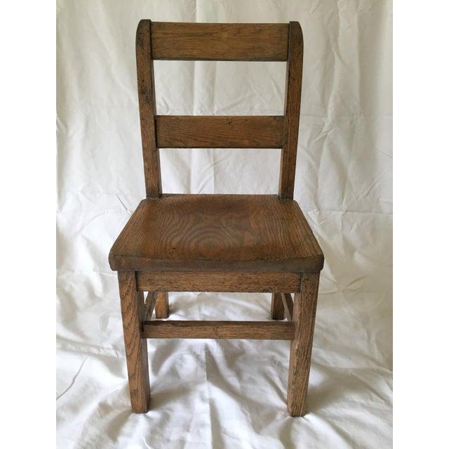 Oak Child's Desk Chair - Image 2 of 4