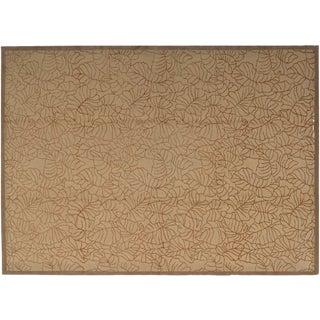 Traditional Stark Studio Rugs Oriental Tibetan Rug - 50% Wool/50% Silk - 6′ × 9′ For Sale
